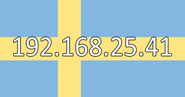 Swedish IP address