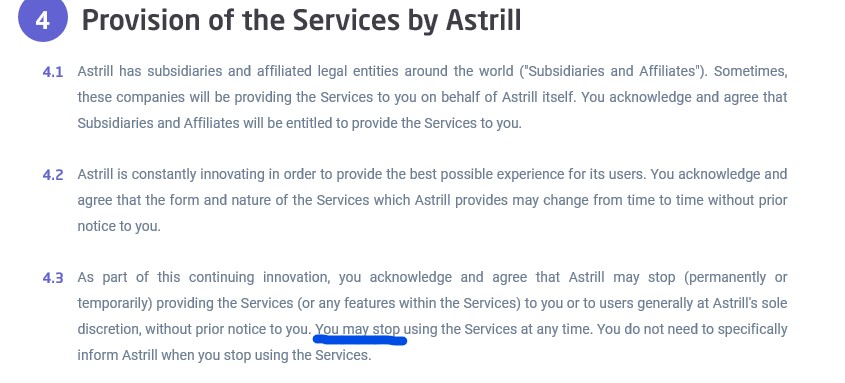 cancel Astrill VPN subscription