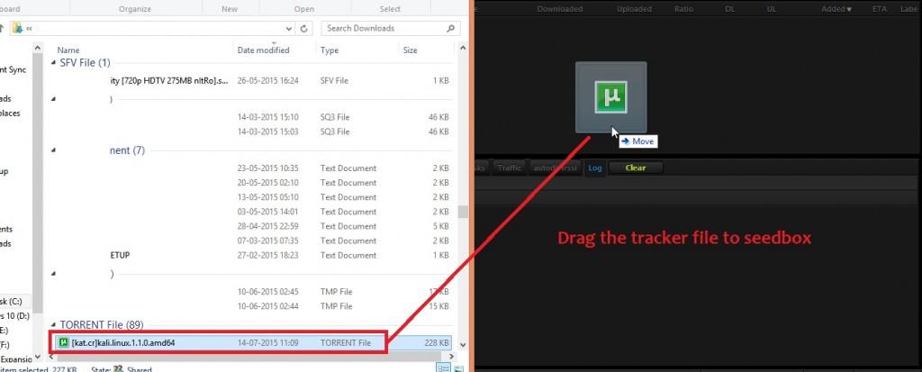 Adding-torrent-rutorrent drag and drop