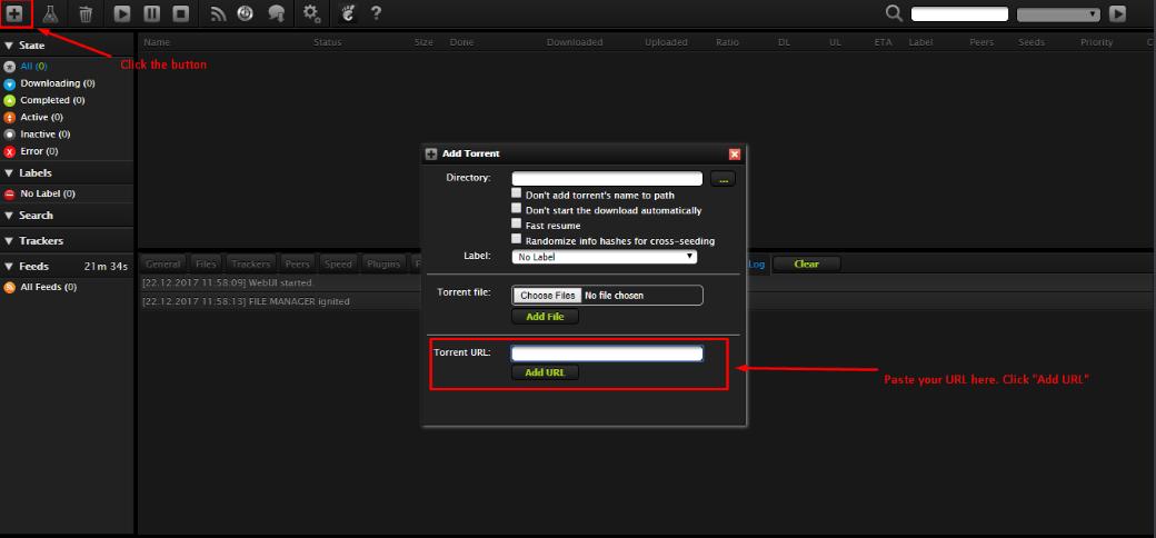 Evoseedbox add torrent
