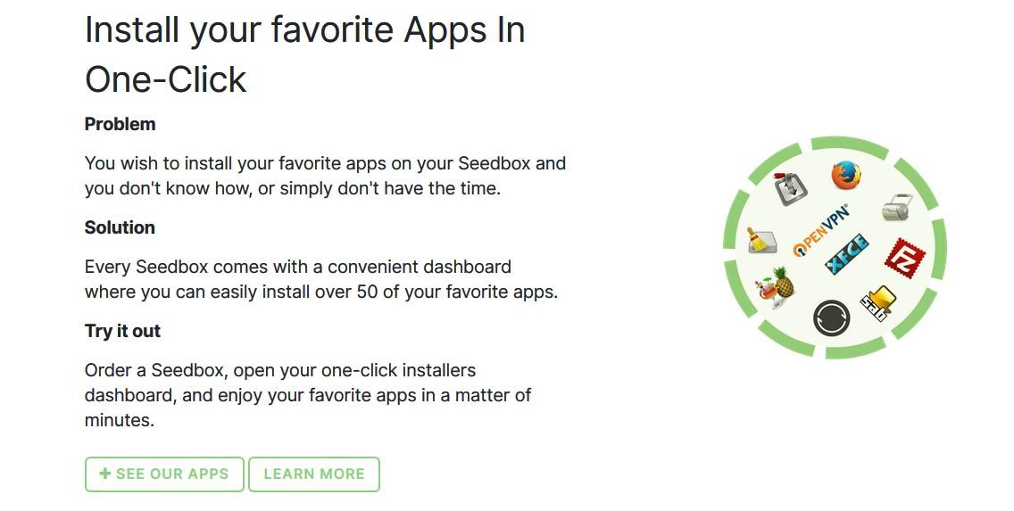 Rapidseedbox install apps