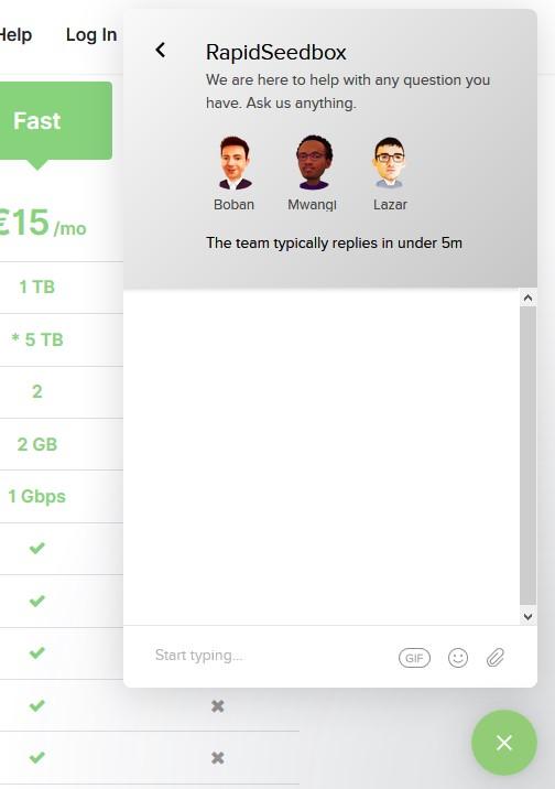 Rapidseedbox live chat