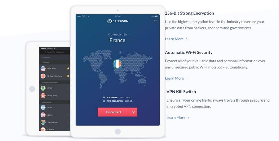 SaferVPN Security