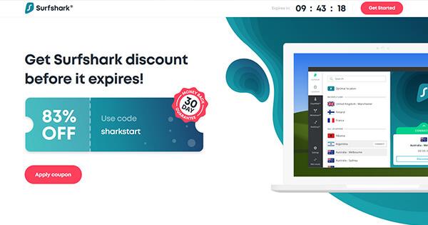 Surfshark coupon code