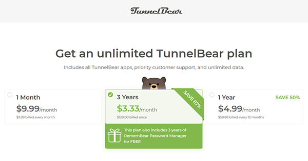 TunnelBear Discount and Promo Code