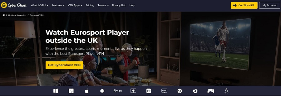 CyberGhost Eurosport Player