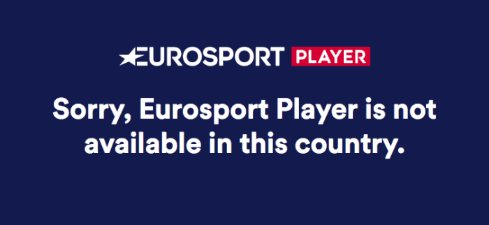 Eurosport Live Blocked
