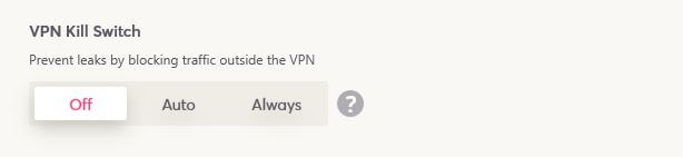 WeVPN Kill Switch