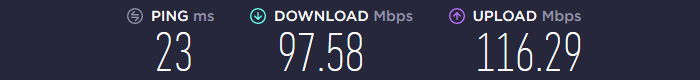WeVPN Speedtest UK