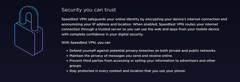 Speedtest VPN Security