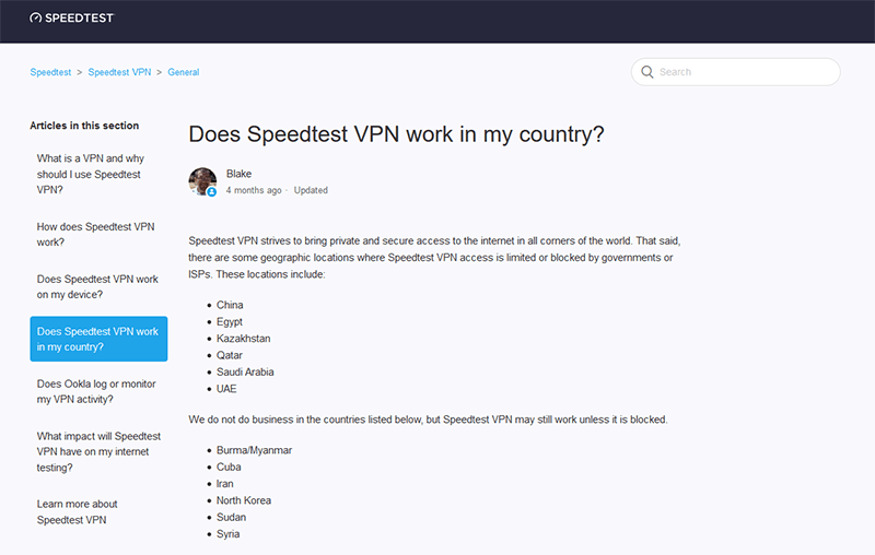 Speedtest VPN against censorship