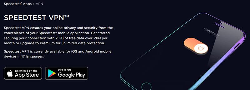Speedtest VPN apps
