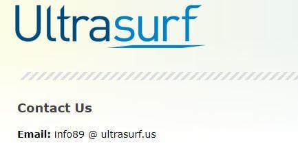 Ultrasurf Contact