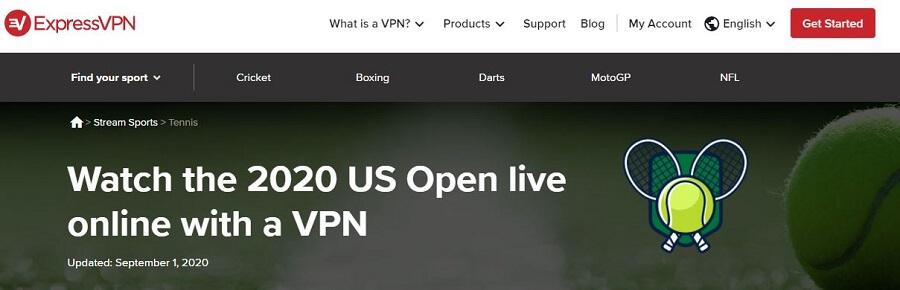 ExpressVPN US Open 2020