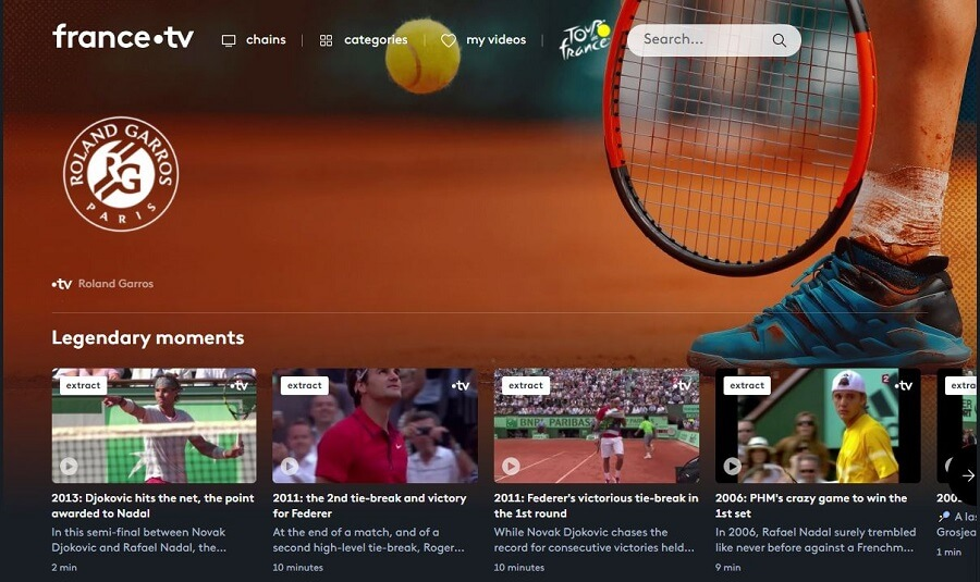 France TV Roland Garros