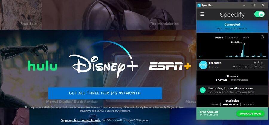 Speedify VPN Disney+