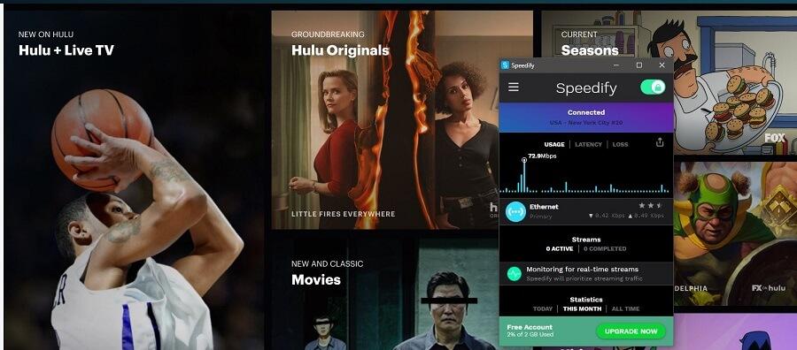 Speedify VPN Hulu