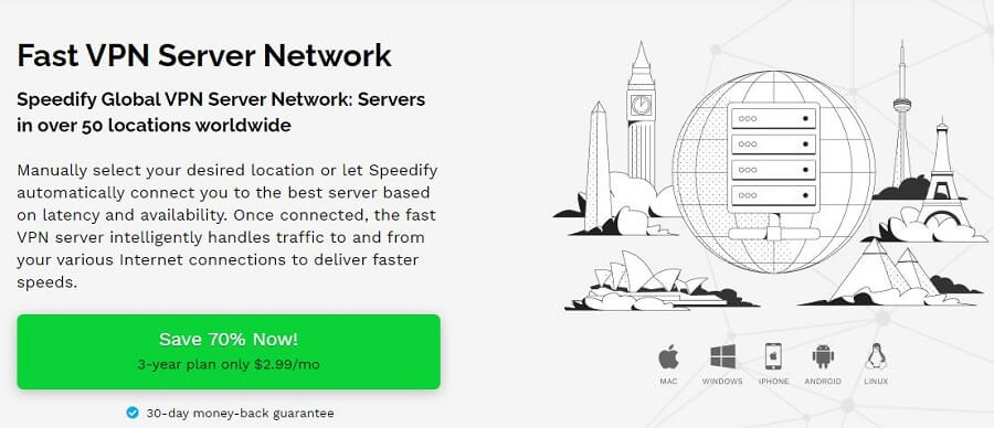 Speedify VPN Servers