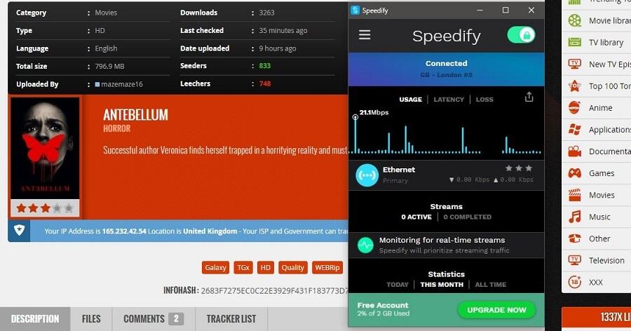 Speedify VPN Torrenting