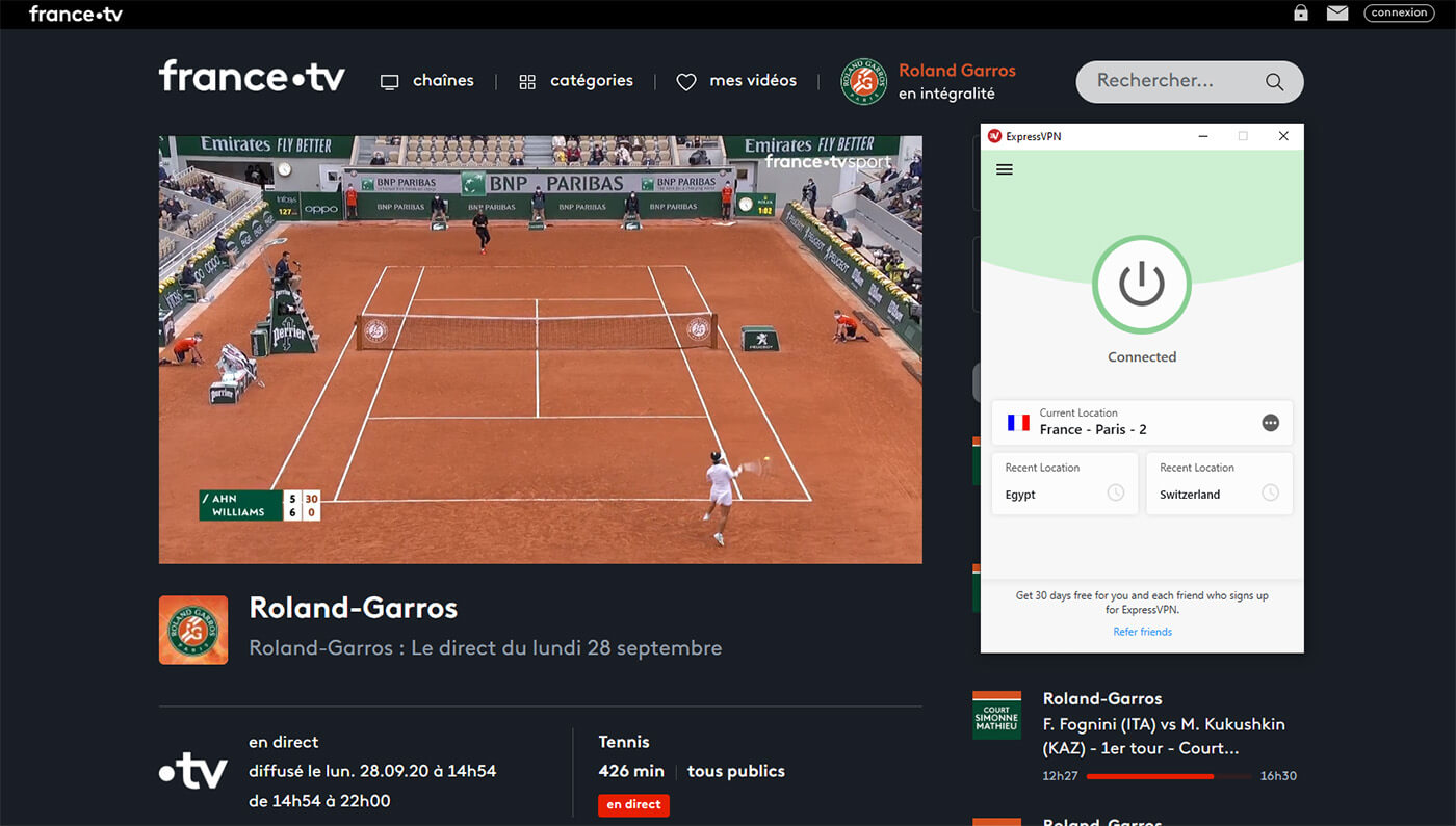 Watch French Open Live ExpressVPN