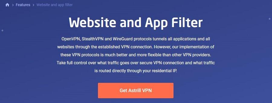 Astrill VPN Split Tunneling