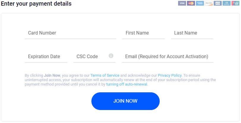 Betternet Payment Options