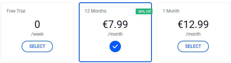Betternet Price