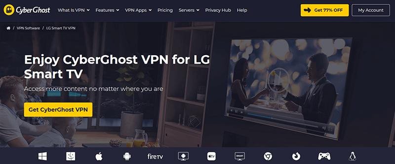 CyberGhost LG TV
