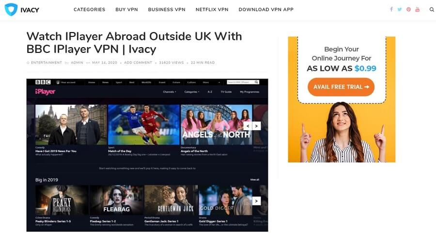 Ivacy VPN BBC iPlayer