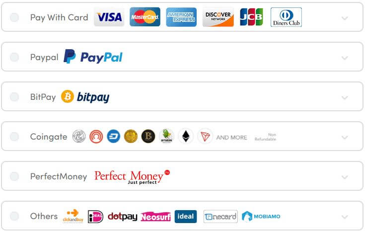 Ivacy VPN Payment Methods