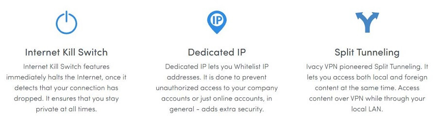 Ivacy VPN Special Features
