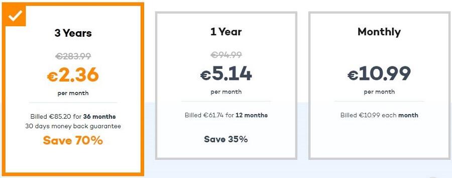 Panda VPN Prices