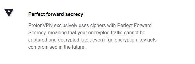 ProtonVPN Forward Secrecy