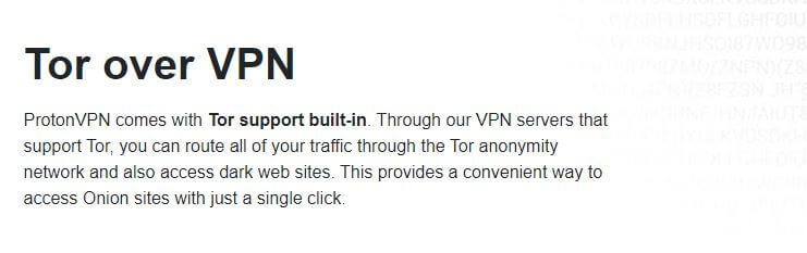 ProtonVPN Tor Over VPN