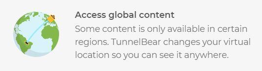 TunnelBear Streaming