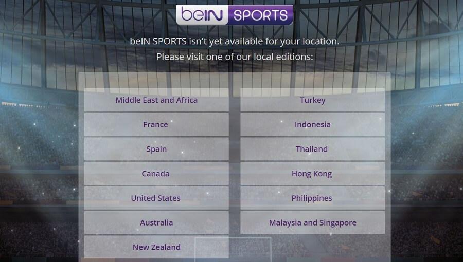 beIN Sports Restriction