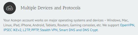 Ace VPN Protocols