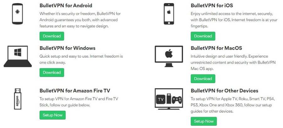 BulletVPN Apps