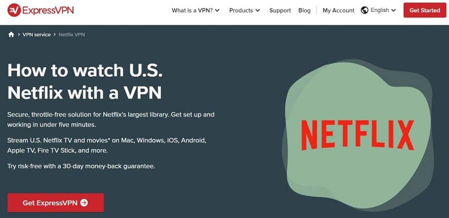 ExpressVPN Netflix Access
