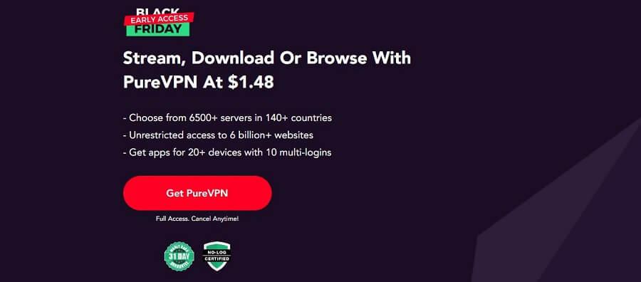 PureVPN Black Friday Deal 2021