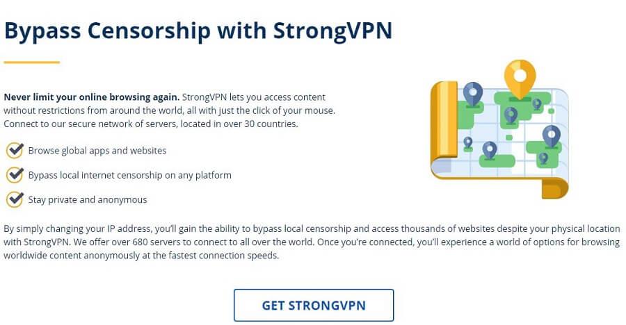 StrongVPN Censorship