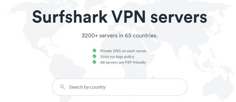 Surfshark Servers 2021