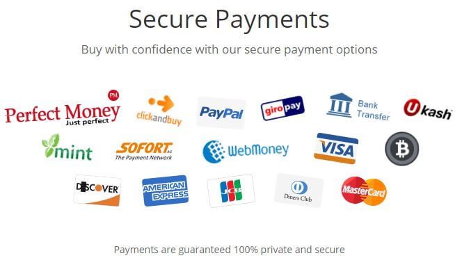 VPNTunnel Payment Methods