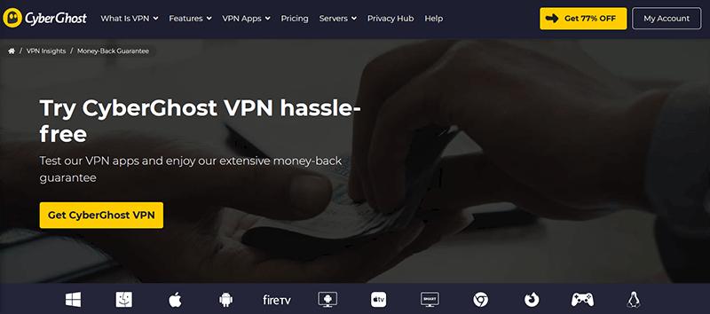 CyberGhost Money-back guarantee