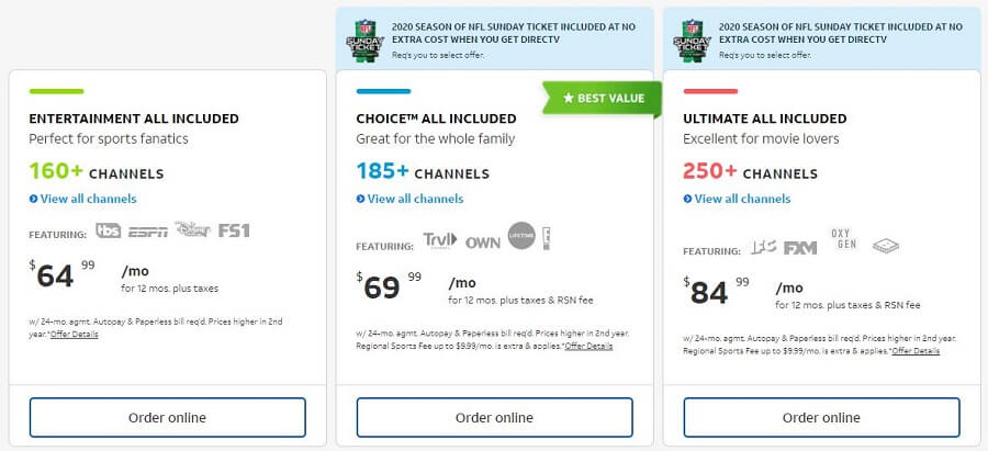 DirecTV Pricing